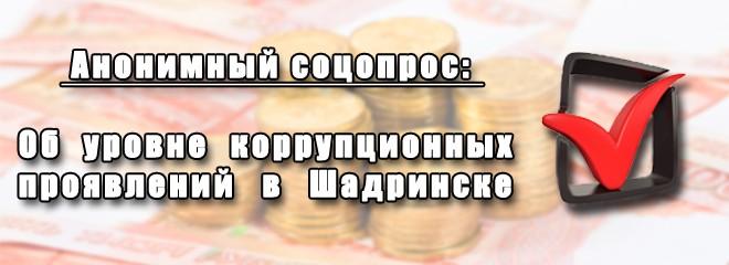 Об уровне коррупционных проявления в городе Шадринске